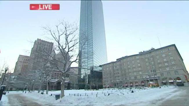 Boston Cleans Up After a Few Inches of Snowfall Overnight