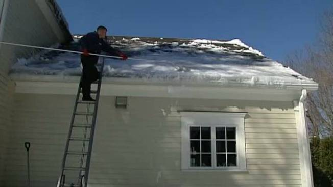 Mass. Roofing Companies Busy Clearing Off Snow, Ice