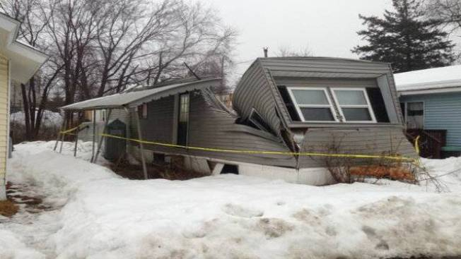 Mobile Home in Danvers, Mass. Collapses Under Weight of Snow, Rain