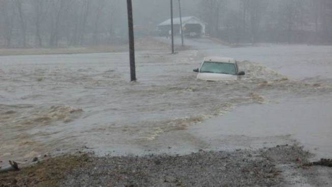 Driver Rescued From Flood Waters in Vt.