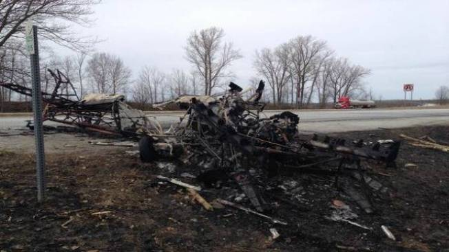 Vt. Pilot Parachutes to Safety Before Fiery Plane Crash