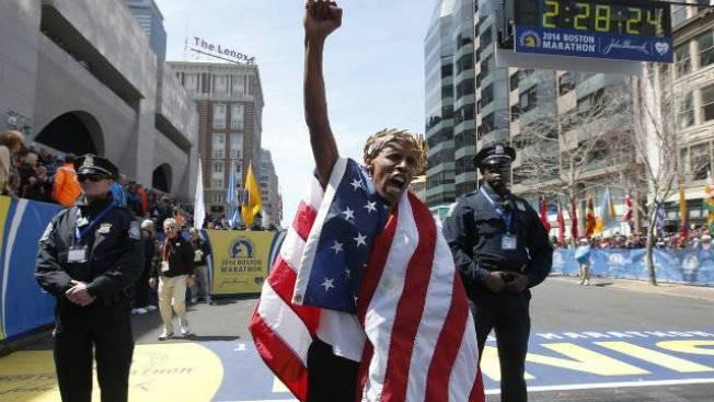 American Wins Boston Marathon Men's Field
