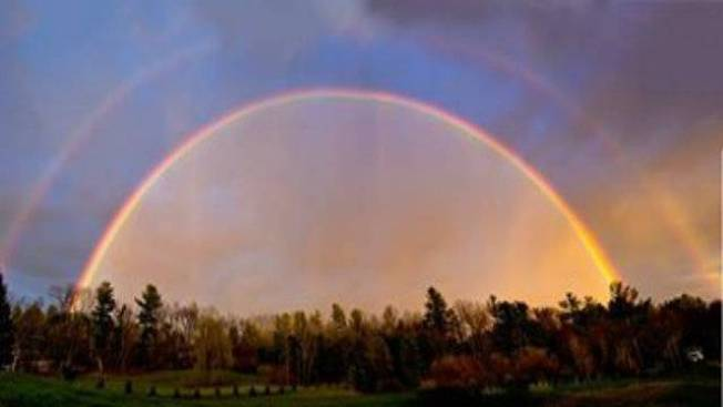 Photo Gallery: Rare Double Rainbow Fills the New England Sky