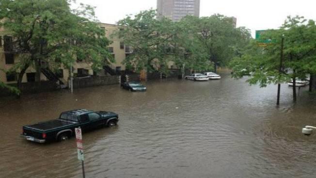 PHOTOS: Heavy Rains Flood Conn. Streets