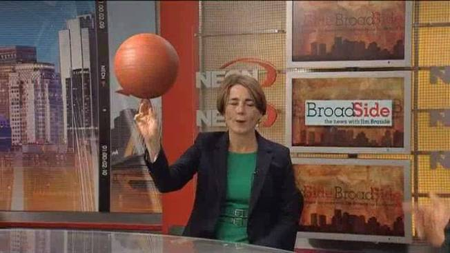 WATCH: Mass. AG Candidate Shows Her Basketball Skills
