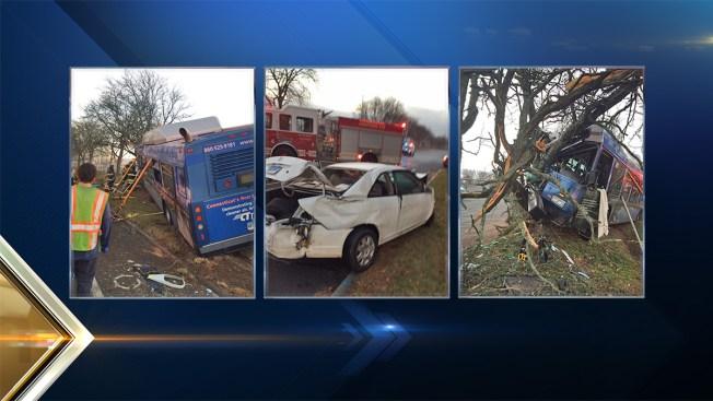 3 Injured in Hartford, Connecticut Bus Crash