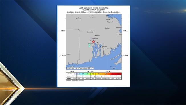 2.3 Magnitude Quake Hits Near Cranston, R.I.
