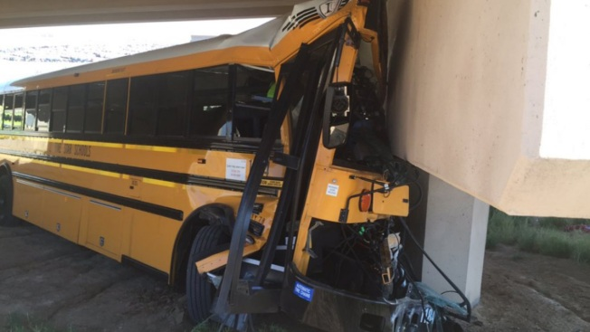 Driver Killed, 18 Injured in School Bus Crash at Denver Airport
