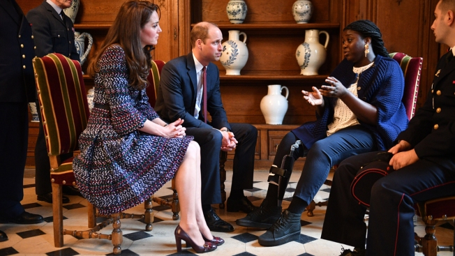 William and Kate meet attack survivors as France hit by airport shooting