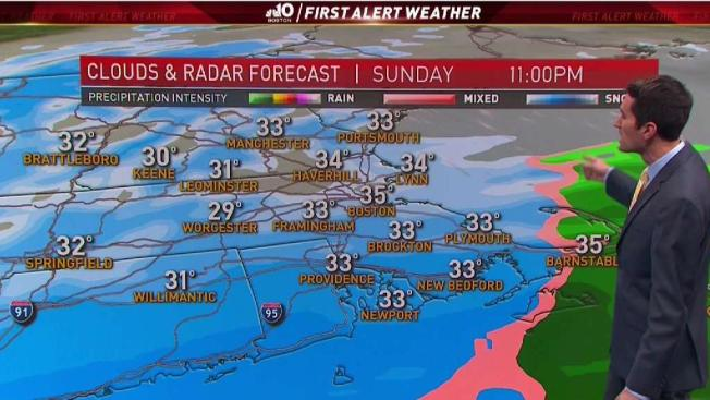 Snow Storm Weather Map.Snow Storm Rolls In Sunday Evening Necn