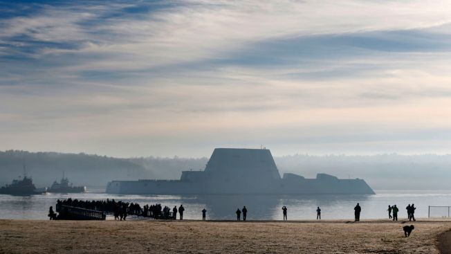 New Stealth Destroyer Helps Rescue Maine Fisherman