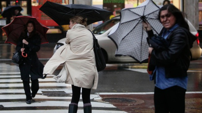 Heavy Rain, Strong Winds Sweep Through New England This Evening