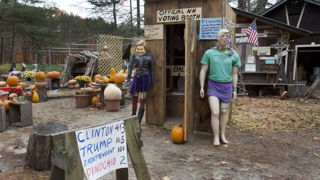 NH Outhouse Voting Booth Features Clinton Vs. Trump