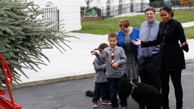 First Lady Welcomes Her Final White House Christmas Tree