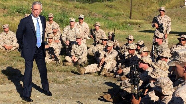 Defense Secretary Mattis Gives US Troops a Pep Talk at Guantanamo