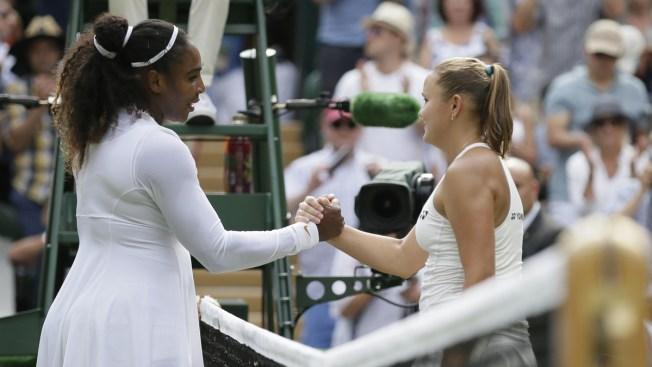 Serena Williams Wins Rare Mom vs. Mom Match at Wimbledon