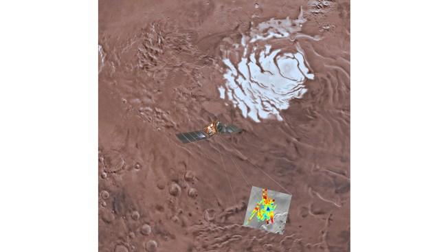 Study Says a Large, Salty Lake Is Buried Deep Beneath Mars