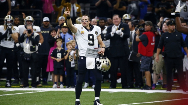 going the distance brees breaks nfl record for yards passing necn