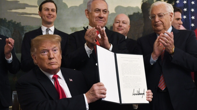 Trump Formally Recognizes Israeli Control of Golan Heights