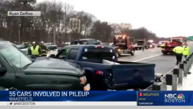 Gridlock: Icy Roads Cause 55-Car Pileup, Other Crashes - NECN