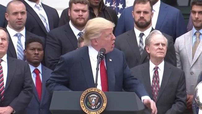 ac82c6a3a Trump Honors Super Bowl Champ Patriots at White House - NECN