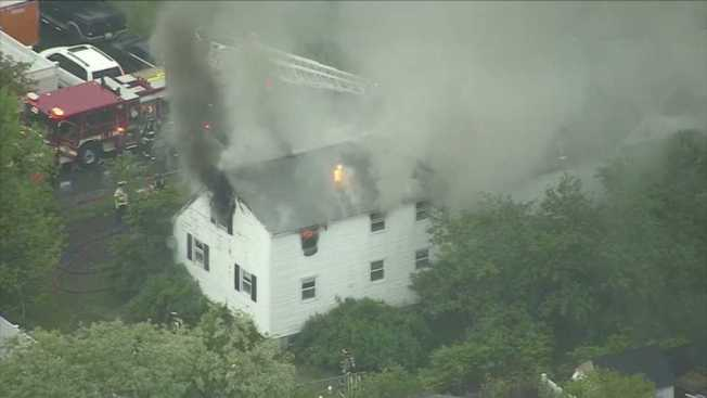 Crews Respond to 3-Alarm House Fire in Tewksbury, Mass.