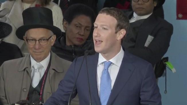cf1e54a1b9481 Facebook s Zuckerberg Speaks to Harvard Graduates - NECN
