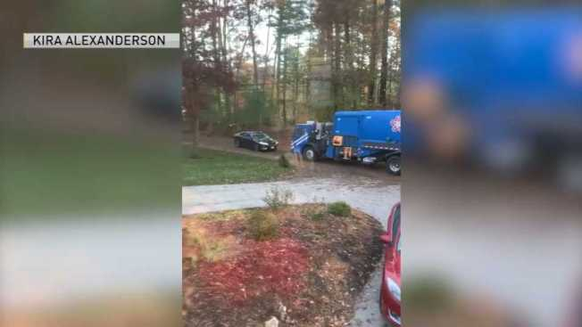 Garbage Truck Involved in Apparent Road Rage in Marshfield