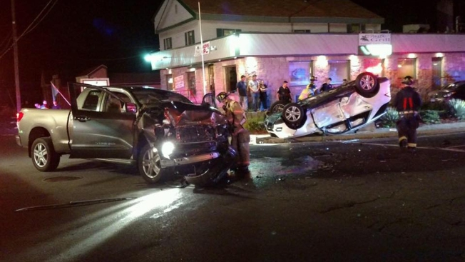 4 Taken to Hospital After  2-Vehicle Accident