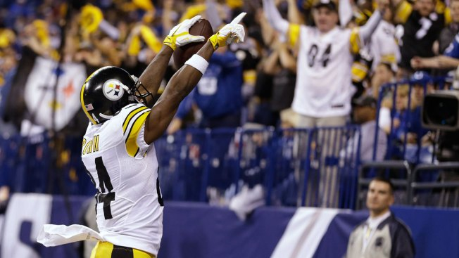 Brown Scores 3 TDs for Steelers in 28-7 Win Over Colts on Thanksgiving