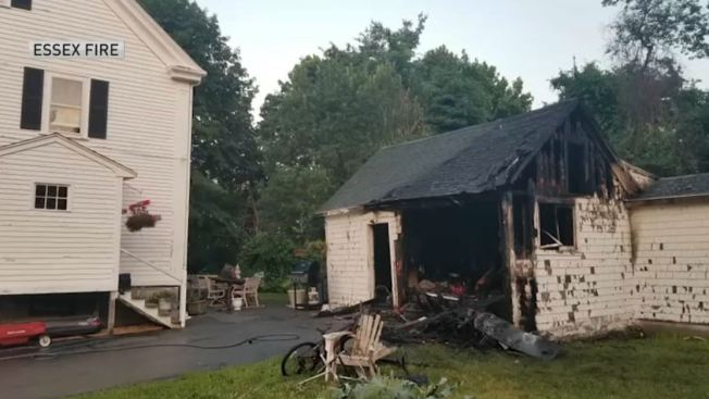Fire Destroys Shed in Essex, Mass.