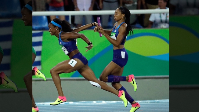 Allyson Felix Gave Her Shoes to English Gardner for 4x100m Gold Medal Race