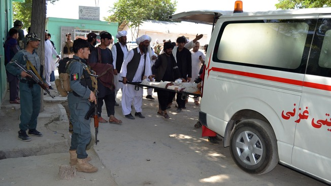 Afghan Officials Say Car Bomb Kills 12, Wounds Scores
