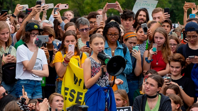 Teen Girls Strike for Global Action on Climate Change