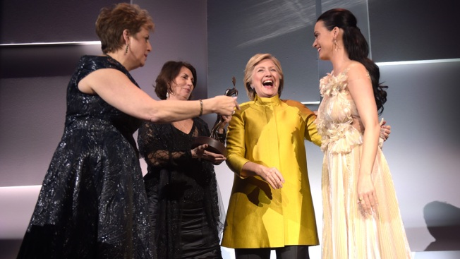 Hillary Clinton Surprises Katy Perry at UNICEF Gala