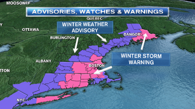 Heavy Snow Into Afternoon for Much of Southern, Eastern New England
