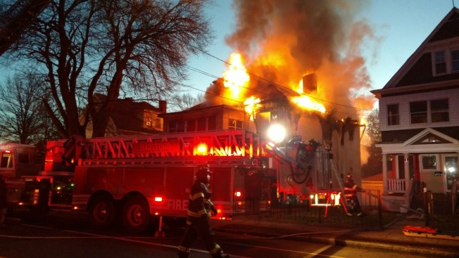 Hartford Battling Heavy House Fire