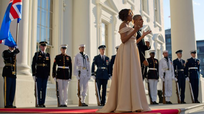 Michelle Obama Wears Naeem Khan to Nordic State Dinner