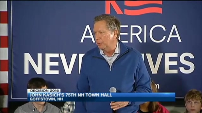 Kasich Holds 75th Town Hall in New Hampshire