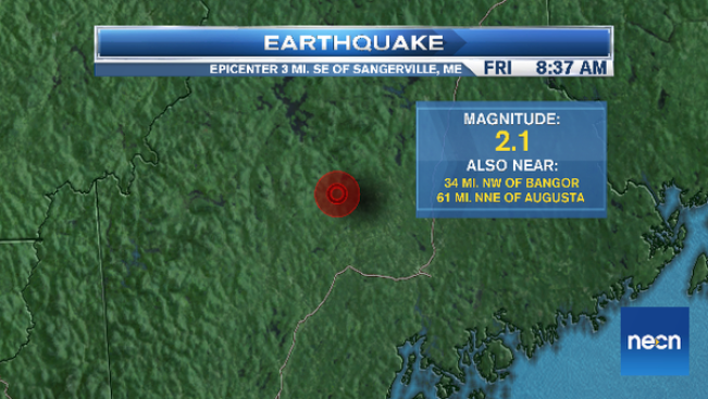 Small Earthquake in Central Maine
