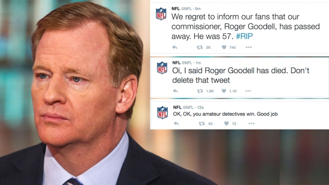 NFL Account Hacked, Falsely Reports Goodell's Death