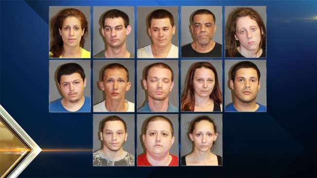 13 Arrested on Drug Charges in Nashua, New Hampshire