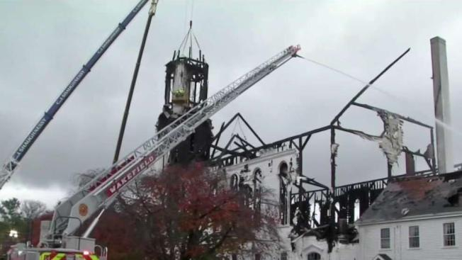 Parishioners Cope With Loss After Fire Destroys Church