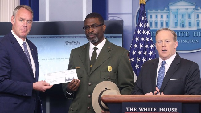 Trump Donates His First Salary to National Parks Service