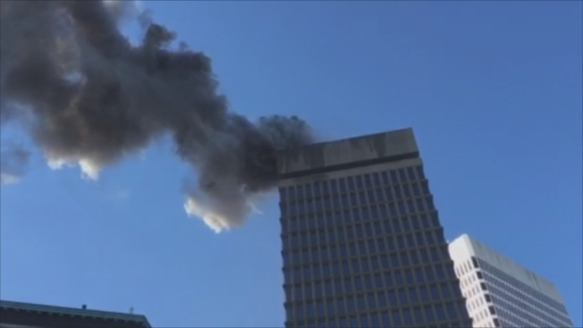 Firefighters Quickly Douse Roof Fire at Rhode Island Office Tower