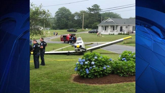 Small Plane Makes Emergency Landing on Lawn