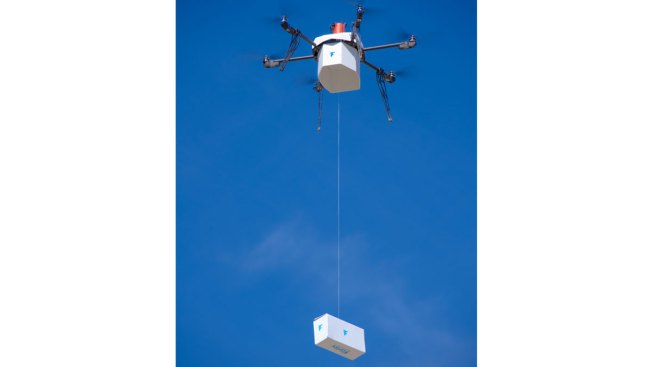 Drone Delivers Package to Residential Area for First Time