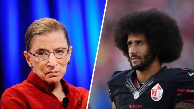 'I Should Have Declined to Respond': Justice Ginsburg Walks Back Her NFL Protest Comments