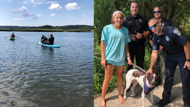 Swimming Dog in Distress Saved by Paddleboarding Mass. Police