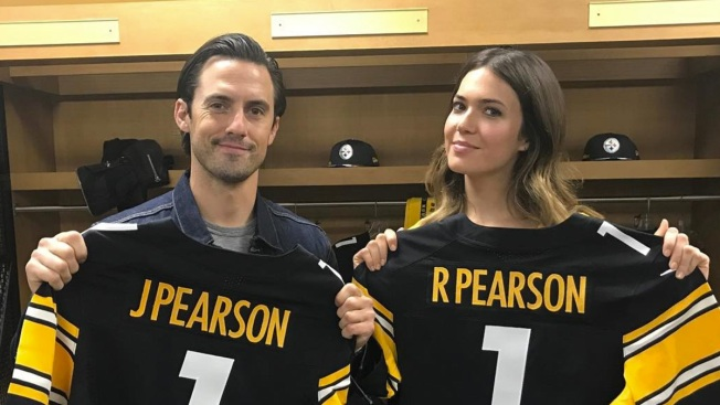 Mandy Moore and Milo Ventimiglia Help Pittsburgh Steelers Announce Draft Pick